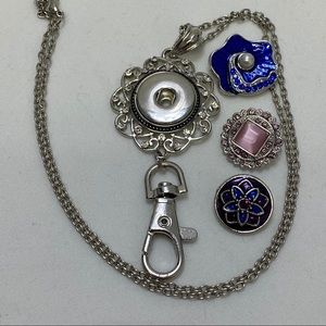 Jewelry - Snap Jewelry Badge Holder Necklace